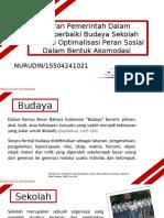 Fix_Nurudin_15504241021_Peran Pemerintah Dalam Budaya Sekolah
