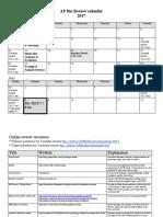 AP Bio Review Calendar