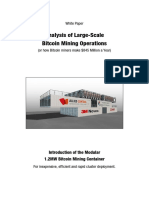 Analysis of Large-Scale Bitcoin Mining Operations