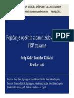 Predavanje HKIG Opatija 2012 - Pojačanje Opečnih Zidanih Zidova i Stupova FRP Trakama