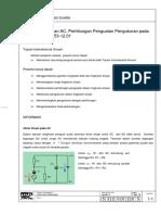 Analisa Rangkaian AC, Perhitungan Penguatan Pengukuran pada Penguat Depan 53-12.01