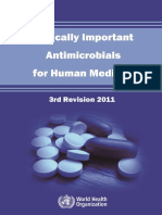 Critical Important Antimicrobials