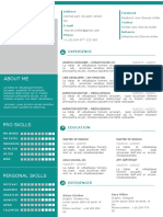 One Page CV Template # 03