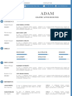 One Page CV Template # 05