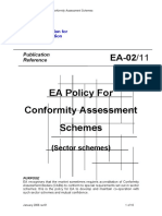 EA-2-11 EA Policy for Conformity Assessment Schemes (Sector Schemes)