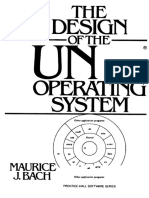 The Design of the Unix Operating System by Maurice J Bach