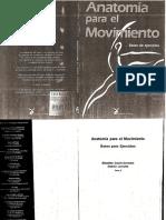 Anatomia Para El Movimiento Tomo 2 Bases de Ejercicios Opt Opt