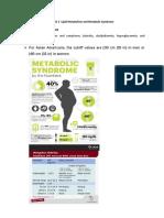 WEEK 3 - Metabolic Syndrome