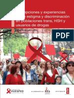 Percepciones y Experiencias Sobre Estigma y Discriminacion en Poblacion Trans HSH y Usuarios de Drogas