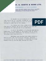 W Goetz Work Agreement 1978