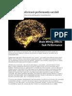 Brain Wiring Afectează Performanța Sarcinii