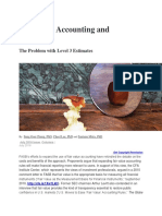 Fair Value Accounting and Reliability - The Problem With Level 3 Estimates - CPA Journal