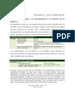 BII Lectura 6, Fenomenos Asociados a La Contaminación y Su Relacion Con La Quimica