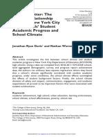 2015 - Schools Matter -The Positive Relationship
