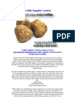 Truffle Supplier London