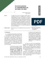 A BIBLIOTECA ESCOLAR NA FORMAÇÃO DE COMUNIDADES DE LEITORES-AUTORES VIA WEB