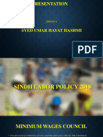 Sindh LAbour Policy 2018