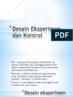 Desain Eksperimen Dan Kontrol