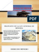 Ley General de Minería