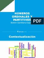 Numeros Ordinales y Partitivos