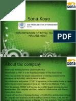 SONA KOYO CASE STUDY