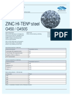 Zinc Hi-ten g450-450s Steel