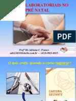 ExamesLaboratoriaisnoPreNatal_ProfAdrianaFranco