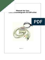 Manual de Uso ECGProVet Version 1-0