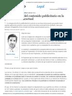 Iñigo de La Maza - La Integración Del Contenido Publicitario en La Prestación Contractual