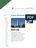 Parque Balmaceda Santiago _ Imagina Santiago