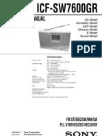 Sony Icf Sw7600gr
