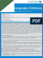 Lic Cultura y Lenguajes Artisticos