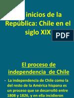 2 Medio Los Inicios de La Republica de Chile SIGLO XIX