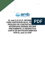Pliego de Condiciones Volumen I -SP Amb-041-17 R1