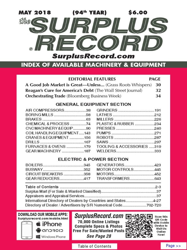 may 2018 surplus record machinery equipment directory drill rh scribd com