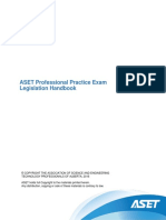 ASET Professional Practice Exam Legislation Handbook