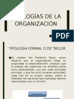 Tipologias de La Organizacion