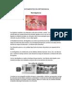 Aditamentos Utilizados en Ortodoncia Primer Semestre