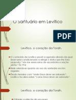 Observações sobre o Santuário em Levítico