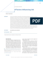 BB_Evaluation of Factors Influencing Job Satisfaction
