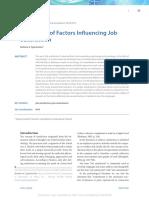 BB_Evaluation of Factors Influencing Job Satisfaction