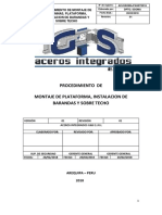 Procedimiento de Montaje de Plataforma%2c Instalacion de Barandas y Sobre Techo