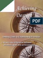 Setting Goals and Establishing Priorities