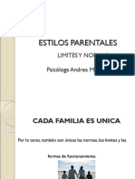 Estilos Parentales - Limites y Normas