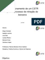 Dimensionamento de um CSTR para o processo de nitração do benzeno