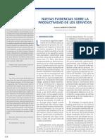 Nuevas Evidencias Sobre La Productividad de Los Servicios