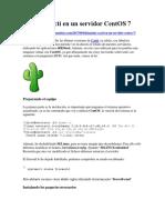 Instalar Cacti en Un Servidor CentOS 7