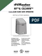 Liftmaster Csl24 Slide Gate Operator Manual