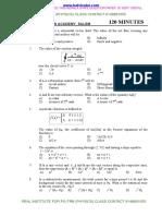 Pg Trb Physics Fulltest -5 - k.s.academy Salem