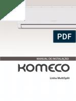 Manual de Instalação Komeco - Multi Split